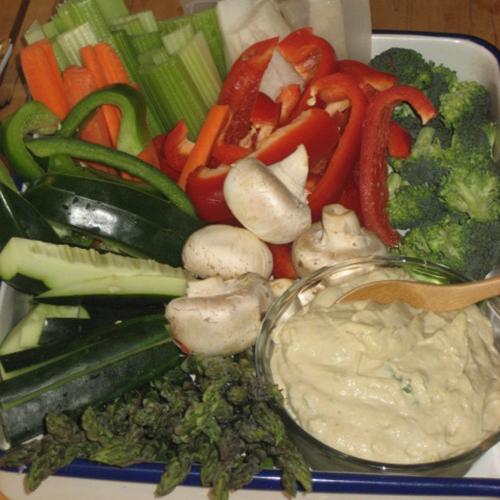Hummus And Veggie Crudites