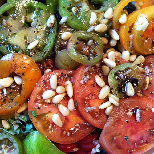 Tomato, Pine Nut Italian Salad