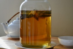 Homemade Green Tea Kombucha