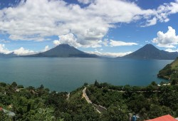 Lake Atitlan Panorama From Sabor Cafe