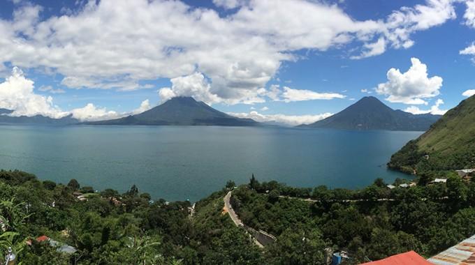 Lake Atitlan Panorama From Sabor Cafe