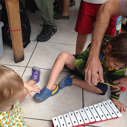 Playing With The Xylophone