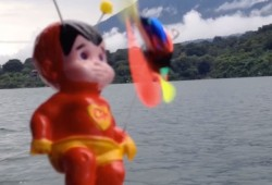 Waterskiing Guatemalan Teletubby