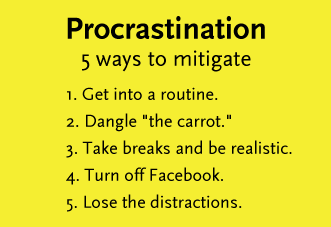 5 Ways To Mitigate Procrastiation