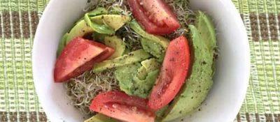 Whats For Lunch? Avo Salad With Sprouts