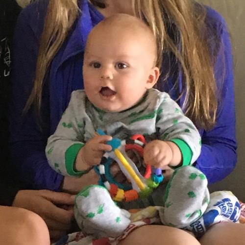 Zai On His Cousins Laps