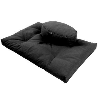 Zafu Round Zabuton Combination Yoga Meditation Support Cushions Buckwheat Fill Hemp