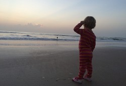 RaCo Life Iza Looking Out At Sea Pregnancy With Toddler