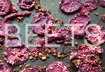 Coconut Dusted Crunchy Beet Chips