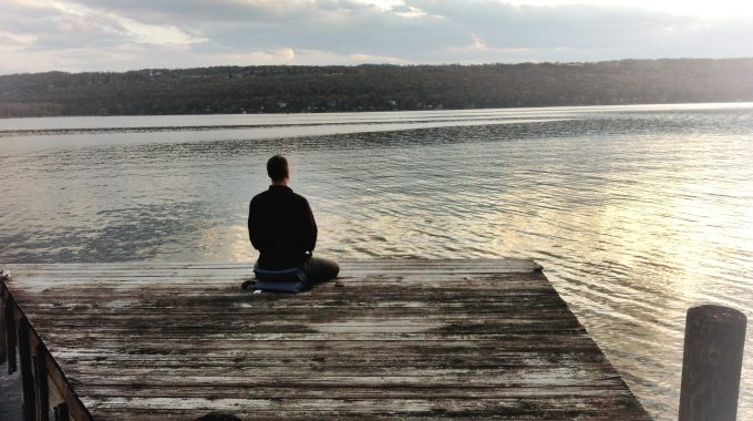 Kurt Meditating On The Dock At Cayuga Lake